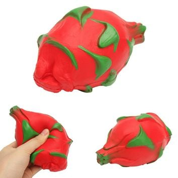 Dragon Fruit Squishy PU Foam  Squeeze Cute Toy Kawaii Collection Fun Joke Gift Decor