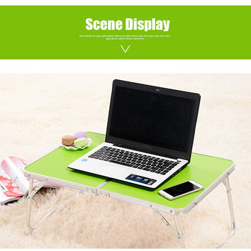 1PC Portable Picnic Camping Folding Table Laptop Desk Stand PC Notebook Bed Tray New