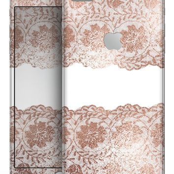 Rose Gold Lace Pattern 11 - Skin-kit for the iPhone 8 or 8 Plus