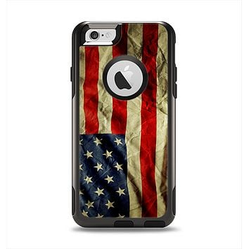The Dark Wrinkled American Flag Apple iPhone 6 Otterbox Commuter Case Skin Set