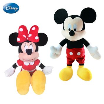 Original Disney Mickey Mouse Doll Plush Toys Minnie Mouse Dolls Stuffed Plush Children Birthday Christmas Gift Genuine Disney