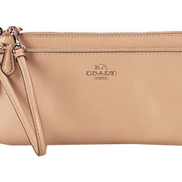 COACH Smooth Leather Double Zip Wallet
