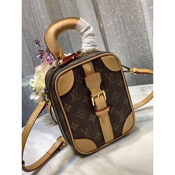 LV Louis Vuitton WOMEN'S MONOGRAM CANVAS Mini Luggage HANDBAG SHOULDER BAG