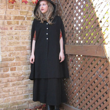 Vintage Hooded Cloak/Cape & Long Skirt Set in by BasyaBerkman