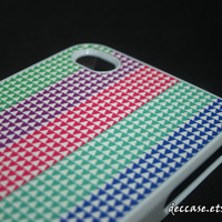 iPhone 4 case - Triangle Pattern Colors Colorful Colorize Bar Stripe