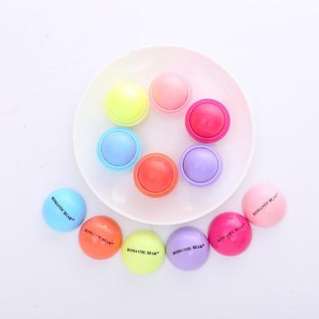 Candy Colors Long-lasting Nutritious Lipstick Moisturizing Balm Matte Waterproof Cosmetics Eatable Safe Natural Lovely Lip Ball