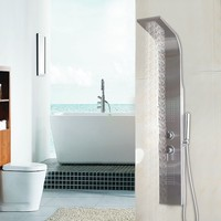 """57"""" Stainless Steel Rainfall Shower Panel With Massage Jets and Hand Shower New"""