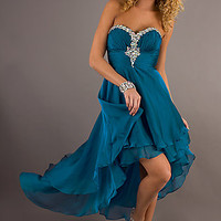 Strapless High Low Dress by Sean