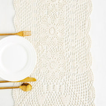 On the Doily Table Runner | Mod Retro Vintage Kitchen | ModCloth.com