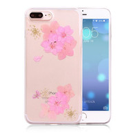 100% Handmade Pressed Flower Case Real Dried Flowers Phone Case LIMITED Cover for iPhone 7 7Plus & iPhone se 5s 6 6 Plus +Gift Box 263