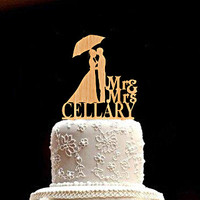 Custom Wedding Cake Topper Personalized Wedding Cake Topper bride and groom Wood Rustic Wedding Cake Topper Mr and Mrs Wedding Cake Topper