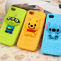 Kawaii iPhone 4/4S/5 cases 5 patterns Phone Cover