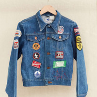 Vintage Wrangler Patched Denim Jacket - Urban Outfitters