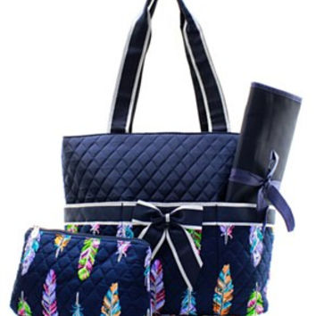 Feather Diaper Bag - 2 Color Choices