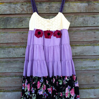 Loretta dress-small medium-artsy-Eco clothing-upcycled clothing-by Andys Summer design