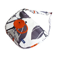 White gray bike messenger bag with orange berry pattern 1.1 BASIC COLLECTION