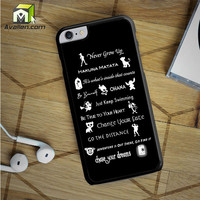 Disney Lessons Learned Mash Up iPhone 6S Plus case by Avallen