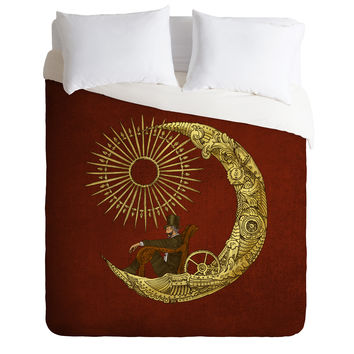Eric Fan Moon Travel Duvet Cover