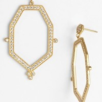 Women's Freida Rothman 'Metropolitan' Pave Open Drop Earrings