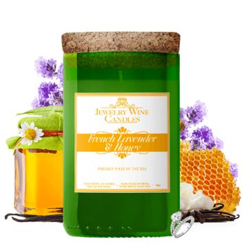 French Lavender & Honey | Jewelry Wine Candle®