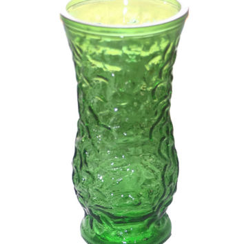 Vintage Hoosier Glass Vase, Home decor, Vase Home Decor, Green Glass, Green Vase, Table Decor, Vintage Glass, Flower Vase