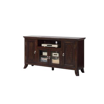 Appealing Entertainment TV Stand, Walnut Brown By Crown Mark