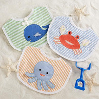 "Baby Aspen ""Beach Buddies"" 3-Piece Bib Gift Set (Boy)"