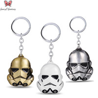 Classic Movie Star Wars: The Force Awakens Keychain  3 colors Storm Trooper Helmet storm trooper pendant Key chain ring ZKSWWW