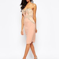 Forever Unique Adele Bandeau Midi Dress with Embellishment