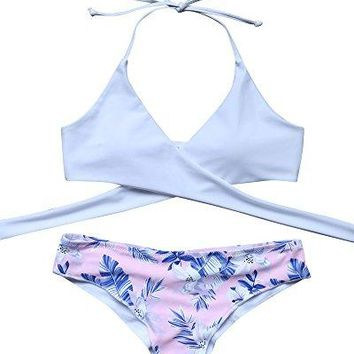 MOOSKINI Womens Padded Push-up Bikini Set Bathing Suits Two Pieces Swimsuit