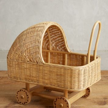 Wicker Play Pram