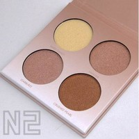 4 Color Bronzer and Highlighter Palette
