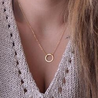 Circle Pendants Necklace Eternity Necklace Karma Infinity Silver Minimalist