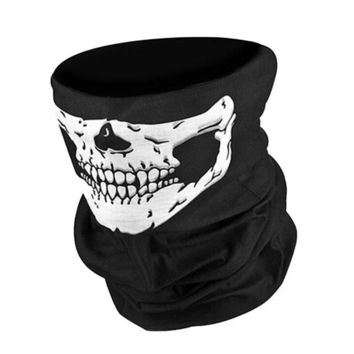 Unique Fashion Motorcycle SKULL Ghost Face Windproof Mask Outdoor Sports Warm Ski Caps Bike Balaclavas Scarf