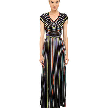 M Missoni Lurex Micro Stripe Open Back