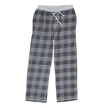 Melange Buffalo Check Flannel Pant in Charcoal by True Grit - FINAL SALE