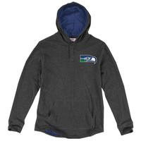 Seattle Seahawks Mitchell & Ness Hooded Long Sleeve T-Shirt – Charcoal