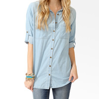 Raglan Sleeve Denim Shirt
