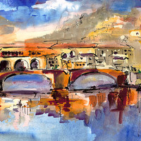 Italy Ponte Vecchio Florence by Ginette Callaway