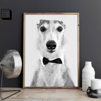 Greyhound print, black and white photography, greyhound wall art, greyhound poster, greyhound photo, digital print, greyhound art, dog print