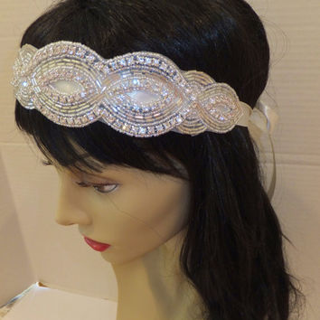 Bridal Headpiece, JENELLE, Crystal Headpiece, Wedding Headpiece, Bridal Headband