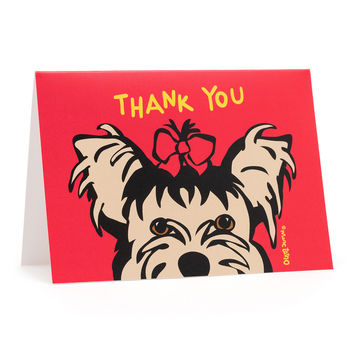 Yorkie Thank You Cards