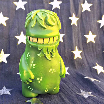 Zed Polymer Clay Monster Geek Collectable Big Green Monster