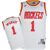 Houston Rockets Tracy McGrady #1 Home Throwback Jersey