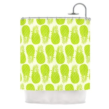 "Anchobee ""Pinya Lime"" Green Pattern Shower Curtain"