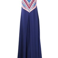 Navy Embellished Gown