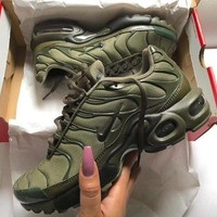 KUYOU NIKE AIR MAX PLUS OLIVE