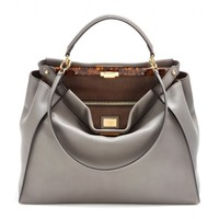 fendi - peekaboo leather tote