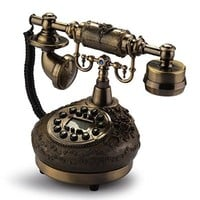 Retro Vintage Antique Style Desk Telephone Phone Home Living Room Decor