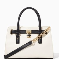 Tri-Color Lady Lockbox Satchel | Handbags | charming charlie